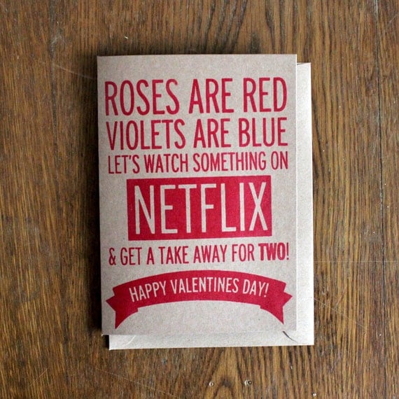Valentines Day Card | Roses Are Red Funny Poem | Hand Made