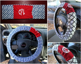 Steering Wheel Cover with Monogram