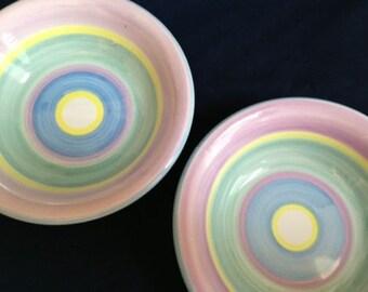 Roberta Fortunes's Almanac Hand-Painted Italian Ceramic Bowls - Set of 2