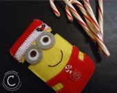 Felt Cellphone Case With Christmas Designed Despicable Me Minion (Perfect Gift for anybody)