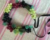 Grapes of Wreath Multicolored Flower Crown