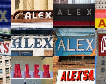 Alex Name Sign Etsy