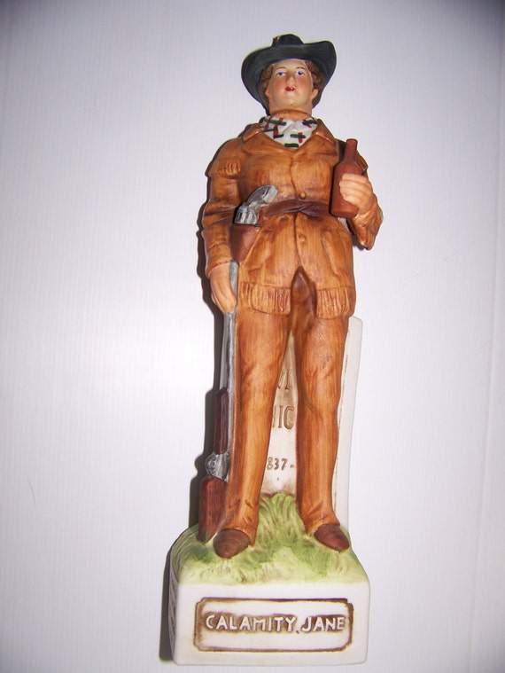 Mccormick Whiskey Decanter Calamity Jane Hand Painted Rare