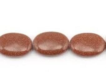 Goldenstone Natural Gemstone - 10x14mm Ovals - Pack 18