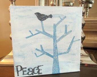 Peace 6 X 6 Canvas