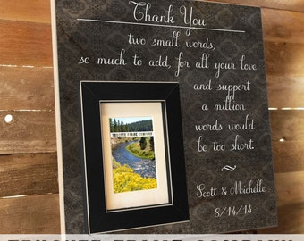 Parents Wedding Gift, Parents of the Groom, Father of the Groom Gift, Mother of the Groom, Thank You Gift, Personalized Picture Frame 16x16