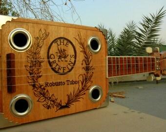 Cigar Box Ukulele with woodburn design