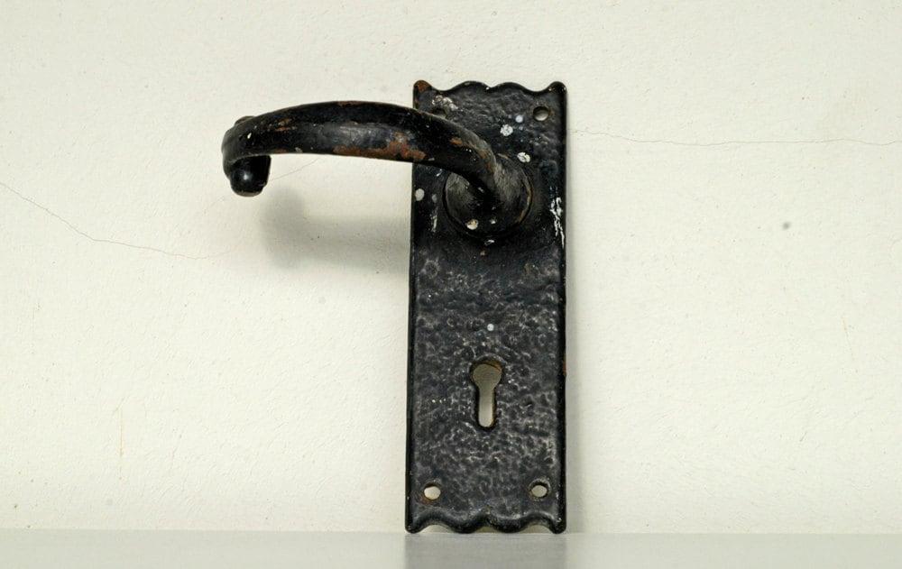 black iron door handle lionheart england 2747 reclaimed