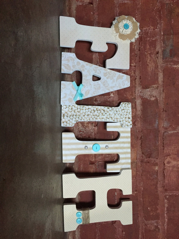 Custom Decorative Wooden Letters Wooden Names Gender