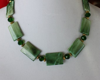 Green Choker, Green Necklace, St Patties Day Necklace, Green Jewelry, Green Summer Necklace, Green Spring Necklace, Birthday Gifts