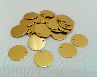 50 Pcs Raw Brass  12 mm Stamping Blanks Findings