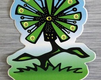 Dancing Flower Sticker Outdoor Bumper Stickers