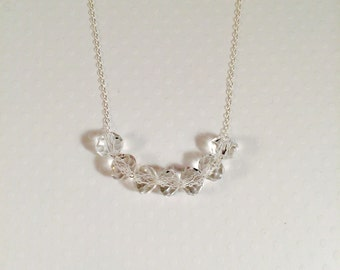Crystal Briolettes on Sterling Silver Chain