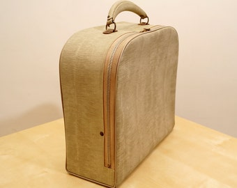 Vintage Luggage by Lightning || Leatherette and Fabric