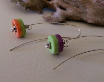 Rock Lollies Lampwork Earrings OOAK SRA T25