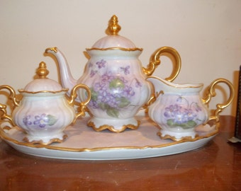 Vintage Hutschenreuther Tea Set - Hand-painted - Bavaria