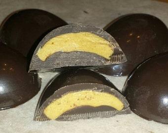 Chocolate Peanut Butter Eggs/Basket Stuffer/Easter/Favor/Gift