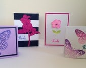 Luxury Handmade Feminie Floral Business Thank You Cards
