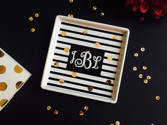Monogram Jewelry Tray, Personalized Jewelry Tray, Personalized Jewelry Dish, Jewelry Holder, Monogrammed Gifts