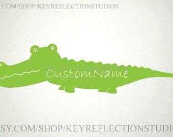 Custom Name Alligator wall decal