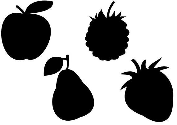 Mela pera mora e fragola frutta svg sagoma di taglio per - Stencil cucina da stampare ...