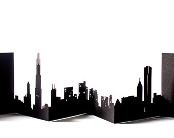 Chicago Cityscape, Silhouette, Skyline Card
