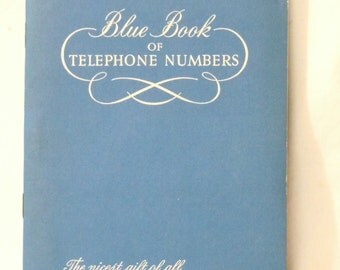 Blue Book of telephone numbers