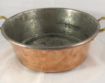 Copper Pot With Brass Handles
