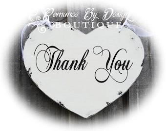 Thank You  Heart Wedding Sign