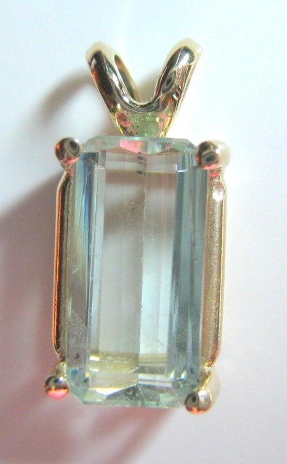 Rare Aquamarine Pendant