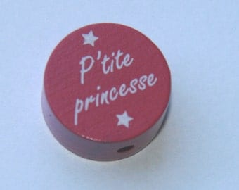 "Wooden bead ""P'tite princess"""