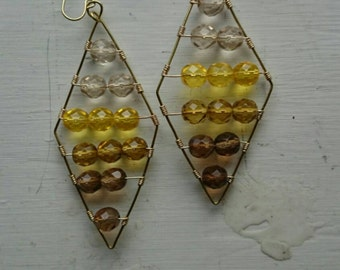 Yellow ombre earrings