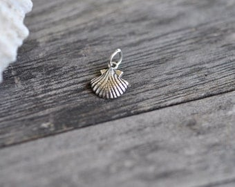 Sterling Seashell Charm Silver Pendant Made In USA