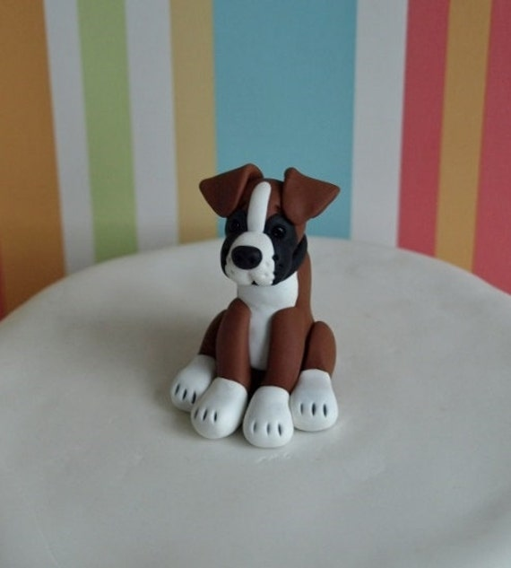 wedding cake topper with boxer dog boxer cake topper wedding cake topper birthday 26654