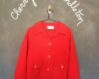 Red Pendelton Coat