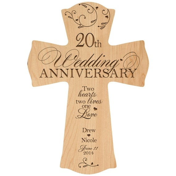 ... 20th Anniversary Wall Cross,20 year wedding Anniversary gift Gift for