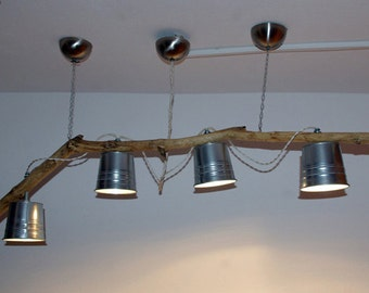 Chandelier on branch with buckets-Mod. KEFLAVIK