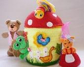 AMIGURUMI animals, miniature stuffed animals, soft collectible funny gift, animal, forest animals, stuffed small animals,RainbowHappiness
