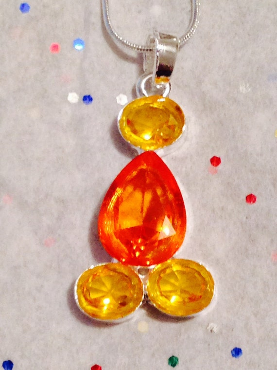 topz necklace topaz jewelry orange by theblingfollowing
