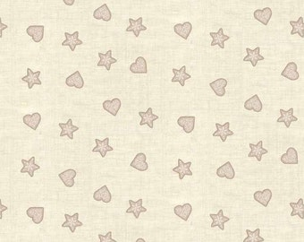 Scandi Christmas Fabric 1/4, 1/2 yd + by Henley Studio for Andover Makower, Slate Hearts and Stars