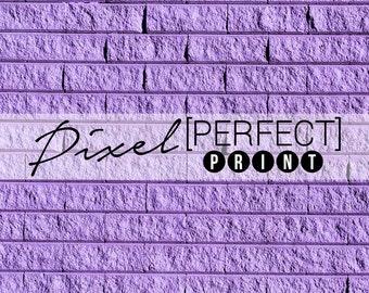 "EXCLUSIVE - 3ft x 3ft ""Whimsy Purple"" Vinyl Backdrop // Vinyl Backdrops // Vinyl Photography Backdrop // Purple Brick, Rock (PP098)"
