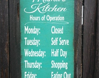 personalized kitchen sign, kitchen decor, personalized kitchen decor, Mama's Kitchen, Nana's Kitchen