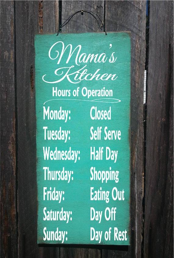personalized kitchen sign, kitchen decor, personalized kitchen decor, Mama's Kitchen, Nana's Kitchen, 88