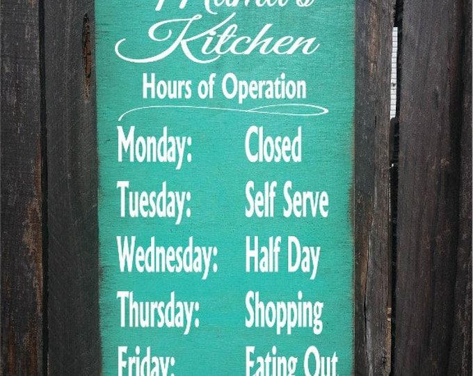 personalized kitchen sign, kitchen decor, personalized kitchen decor, Mama's Kitchen, Nana's Kitchen