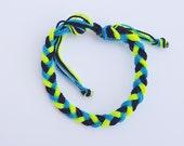 Neon boy bracelet/anklet, waterproof, no fade,adjustable,braided,string bracelets,toddler,teen, adult frienship ADVENTURE BRACELETS