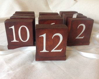 Handmade Wooden Wedding table numbers