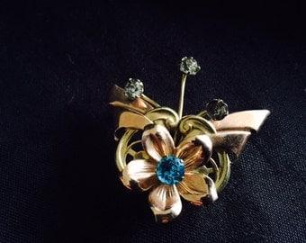 Vintage Van Dell butterfly brooch