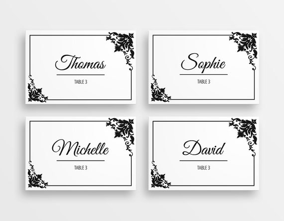 Revered image within printable name card