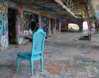 Aqua Chair~**Art**Unedited**Miami Marine Stadium**Office Art**Decor**Wall Art**Photography*Urban Exploration
