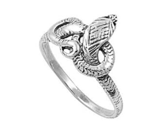 Snake Ring 13MM Sterling Silver 925